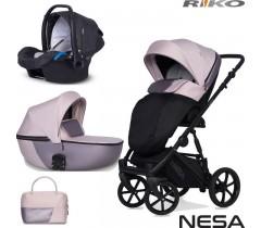 RIKO - Carrinho multifuncional NESA + KITE ISOFIX READY Pearl Pink