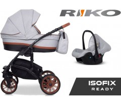 RIKO - Carrinho multifuncional PIANO + CARLO ISOFIX READY Grey Fox