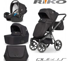RIKO - Carrinho multifuncional QUBUS + KITE ISOFIX READY Carbon