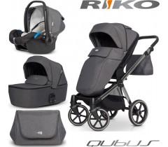 RIKO - Carrinho multifuncional QUBUS + KITE ISOFIX READY Titanium