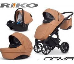 RIKO - Carrinho multifuncional SIGMA + KITE ISOFIX READY Camel