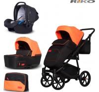 RIKO - Carrinho multifuncional SWIFT Neon + KITE ISOFIX READY Party Orange