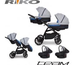 RIKO - TEAM (2 assentos + 2 alcofas) + CARLO ISOFIX READY Denim