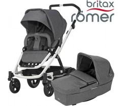 Britax Romer Carro GO NEXT BRANCO + ALCOFA Grey Melange