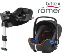 Britax Romer Baby Safe I-Size BUNDLE c/Base FLEX Black Marble