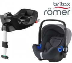 Britax Romer Baby Safe I-Size BUNDLE c/Base FLEX Storm Grey