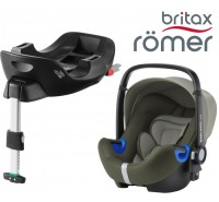Britax Romer Baby Safe I-Size BUNDLE c/Base FLEX Olive Green