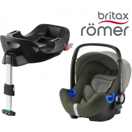 Britax Romer Baby Safe I-Size BUNDLE c/Base FLEX Olive Green