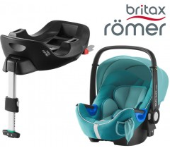 Britax Romer Baby Safe I-Size BUNDLE c/Base FLEX Lagoon Green
