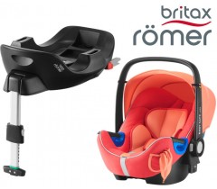 Britax Romer Baby Safe I-Size BUNDLE c/Base FLEX Coral Peach