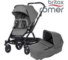 Britax Romer Carro GO NEXT PRETO + ALCOFA Grey Melange