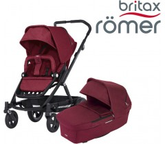Britax Romer Carro GO NEXT + ALCOFA Wine Red Melange