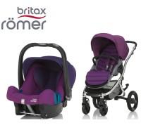 Duo Britax Affinity 2 + Römer Baby Safe SHR II Mineral Lilac