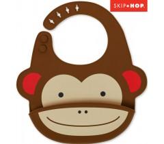 Skip Hop - Babeiro de silicone Zoo Monkey