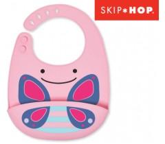 Skip Hop - Babeiro de silicone Zoo Butterfly