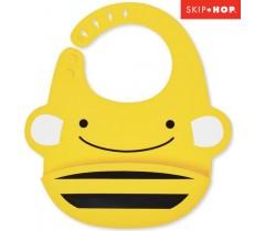 Skip Hop - Babeiro de silicone Zoo Bee