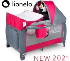 Lionelo - Cama de viagem Sven Plus Pink Rose