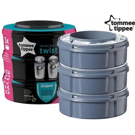 Tommee Tippee - Bobine de substituição Twist & Click x 3