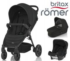 Trio Romer Britax, B-Agile 4 + Baby Safe + Alcofa rígida