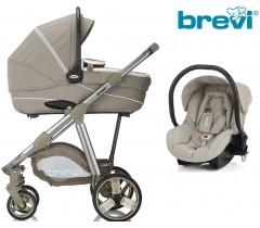 Brevi - Trio, carrinho, alcofa e cadeira grupo 0, Ovo Premium