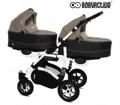 BabyActive - Carrinho de gémeos 2 in 1 Twinny Premium Bege