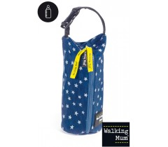 Walking Mum - Porta biberão Denim Baby, Azul