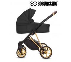 BabyActive - Carrinho de bebé 2 in 1 Musse Ultra Black