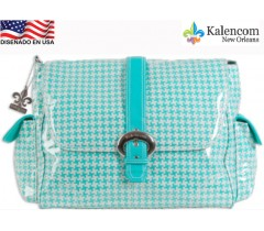 Kalencom - Bolsa de maternidade Buckkle Bag, Chantel Turquesa