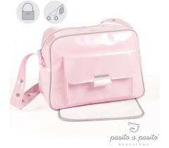 Pasito a Pasito - BOLSA CANASTLLA CHAROL ROSA TWEED BABY