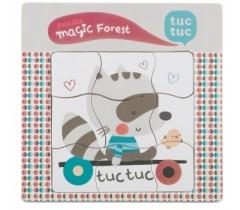 Tuc Tuc - Puzzle de madeira Magic Forest