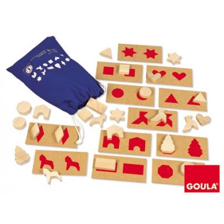 Goula - Percepção táctil e associação 1, 36 peças
