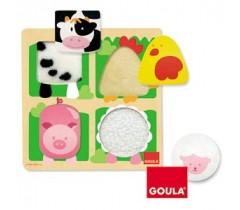 Goula - Puzzle, quinta-tecido, 4 peças