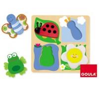 Goula - Puzzle, campo-tecido, 4 peças