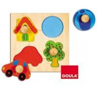 Goula - Puzzle, cores, 4 peças