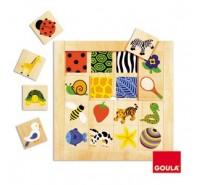 Goula - Puzzle, texturas, 16 peças
