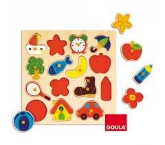 Goula - Puzzle, silhuetas, 15 peças
