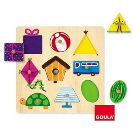 Goula - Puzzle, formas geométricas, 9 peças
