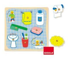 Goula - Puzzle, banho menino, 8 peças