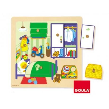 Goula - Puzzle, quarto de menino, 7 peças