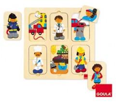 Goula - Puzzle, profissões, 12 peças