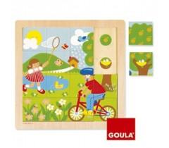 Goula - Puzzle, primavera, 16 peças