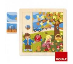 Goula - Puzzle, outono, 16 peças
