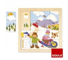 Goula - Puzzle, inverno, 16 peças