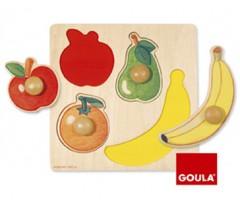 Goula - Puzzle, frutas, 4 peças