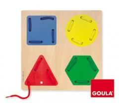 Goula - Jogo de enfiar figuras geométricas
