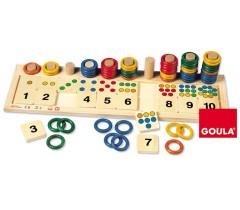 Goula - Argolas coloridas, 74 peças