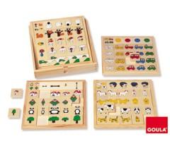 Goula - Jogo adjectivos e posições, 64 peças