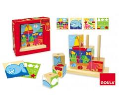 Goula - Puzzle cubos mar, 9 peças