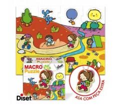 Diset - Macro puzzle, excursões, 24 peças
