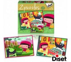 Diset - Capuchinho vermelho, 2 puzzles, 20 peças